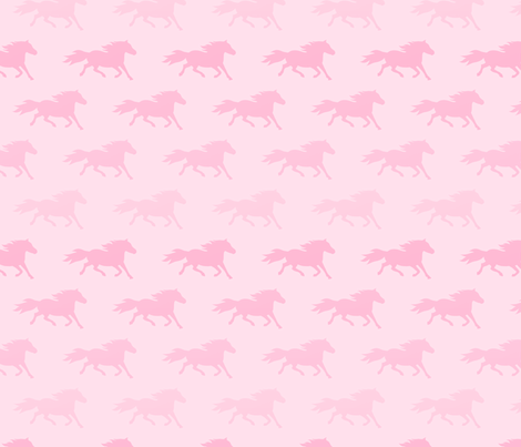 LOVE PINK PONIES fabric by sue-ellen on Spoonflower - custom fabric