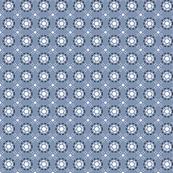 Flower Denim Dots