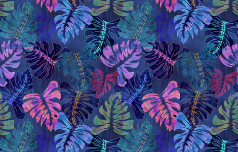 Phoenix Tropical Indigo fabric by schatzibrown on Spoonflower - custom fabric