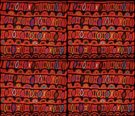 Kuna Folk Art Turtles fabric by vagabond_folk_art on Spoonflower - custom fabric