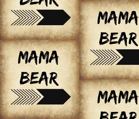 Mama Bear fabric by stitchofcomfort on Spoonflower - custom fabric