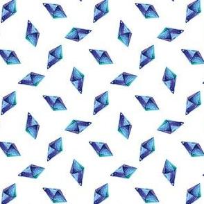 Blue Watercolor Gems