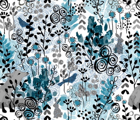 Once in a Blue Moon fabric by sarah_treu on Spoonflower - custom fabric