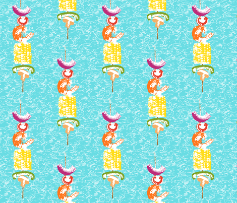 Summer cookout brochette fabric by lucybaribeau on Spoonflower - custom fabric