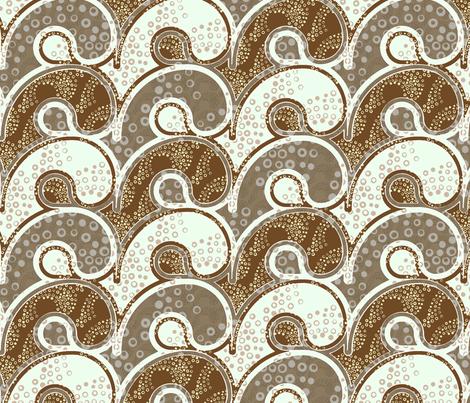 Tsunami - mocha fabric by ormolu on Spoonflower - custom fabric