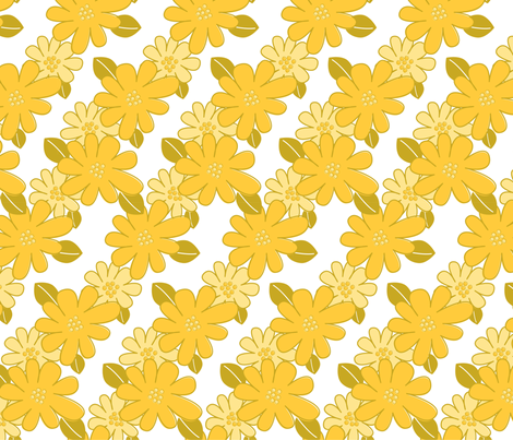Flower Me Yellow fabric by fumbleco on Spoonflower - custom fabric
