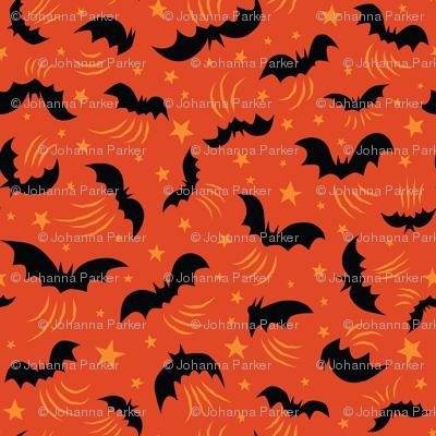 Wild Bats on Orange small