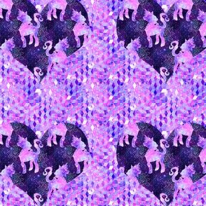 Galaxy unicorn heart