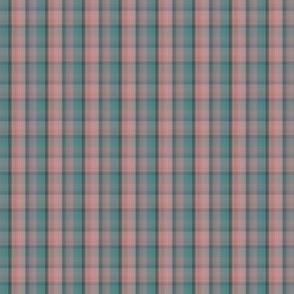 F-Turquoise-Peach Plaid