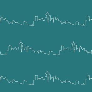 Seattle Skyline on Elm // Small