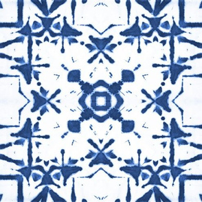 shibori tiles indigo