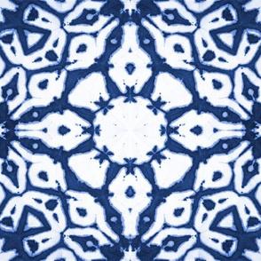 shibori starflowers indigo