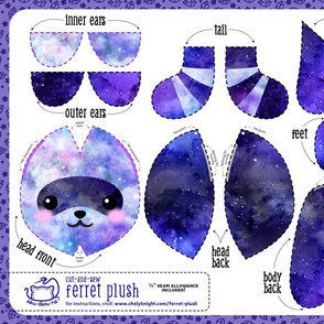 Cut & Sew Ferret Plush Galaxy