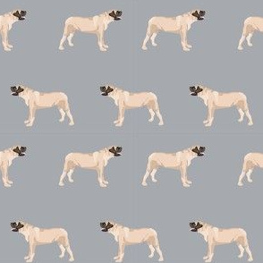 english mastiff dog breed pet fabric standing grey