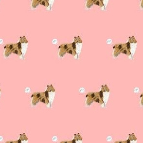 rough collie dog fabric funny fart pure breed pets pink