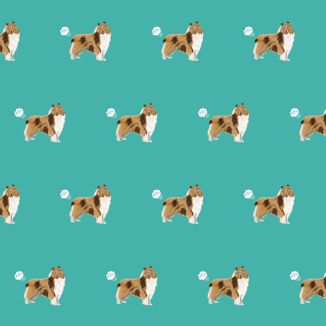 rough collie dog fabric funny fart pure breed pets teal fabric by petfriendly on Spoonflower - custom fabric
