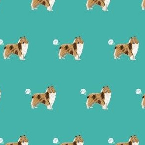 rough collie dog fabric funny fart pure breed pets teal
