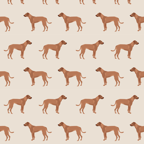 rhodesian ridgeback dog breed pet fabric tan fabric by petfriendly on Spoonflower - custom fabric