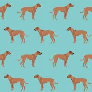 rhodesian ridgeback dog breed pet fabric blue