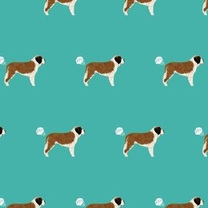 saint bernard dog fabric funny fart pure breed pets teal