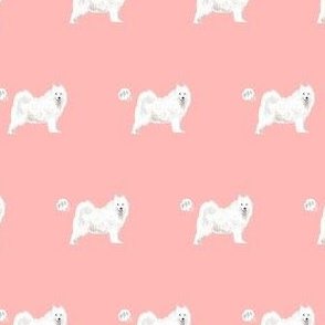 samoyed dog fabric funny fart pure breed pets pink
