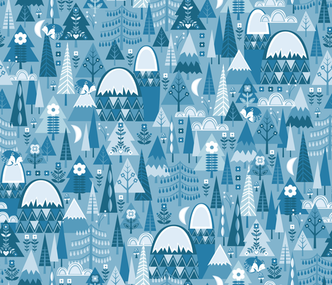 The Forest Sleeps fabric by oliveandruby on Spoonflower - custom fabric