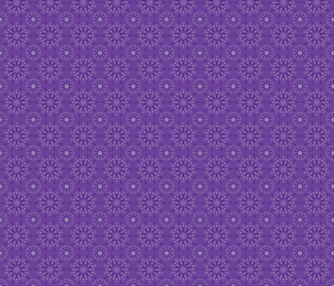 Purple Mandala fabric by lehoux_art on Spoonflower - custom fabric
