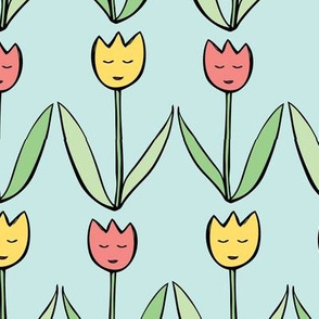 Happy lil' tulips