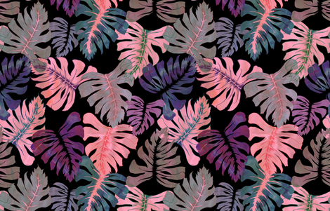 Phoenix Tropical pink fabric by schatzibrown on Spoonflower - custom fabric