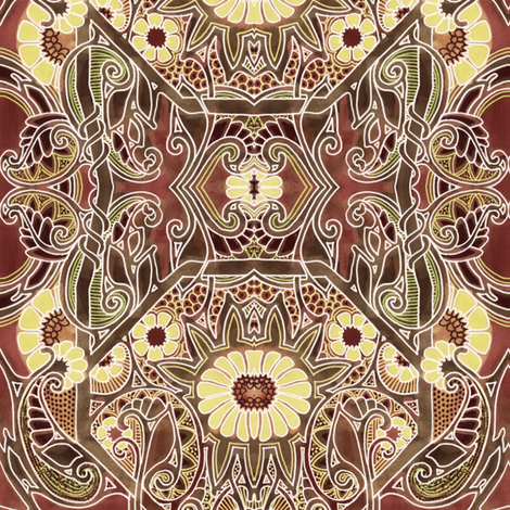 Chocolate Goes With Gardening fabric by edsel2084 on Spoonflower - custom fabric