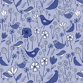 Spring Garden - Blue Hues