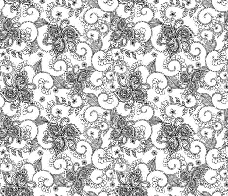 MONOCHROME ZEN-01 fabric by dandy_wallflower on Spoonflower - custom fabric