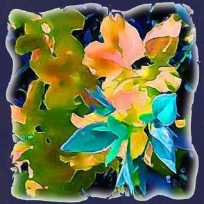 Navy Blue Floral Medley