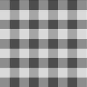 Grey Check, Large Check:  All Gray Check