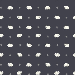 Sheep  & Clovers  (Black & White Dots)