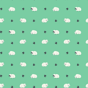 Sheep  & Clover (Green Dots)