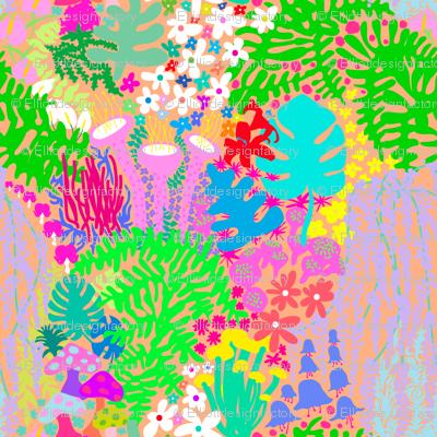 Jardin de la Jungle in Orange Cream