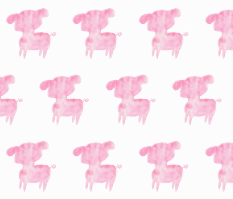 Watercolor Piglet fabric by artheart on Spoonflower - custom fabric