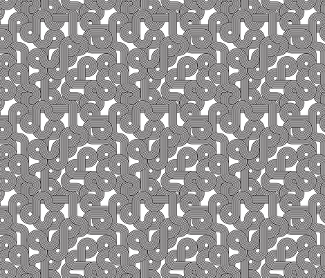curvy lines bw fabric by ghouk on Spoonflower - custom fabric