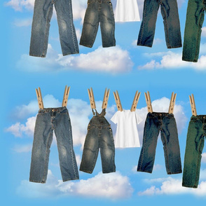 Laundry with 5 and Clouds 2