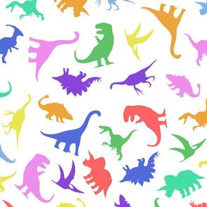 Fun Colourful Dinosaur Pattern