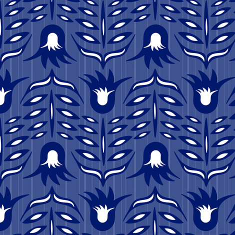 Les fleurs bleues en vol fabric by cleolovescolor on Spoonflower - custom fabric