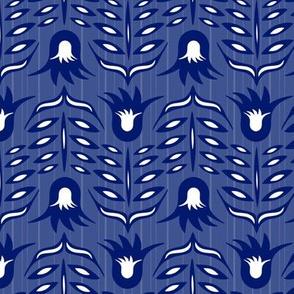 Les fleurs bleues en vol