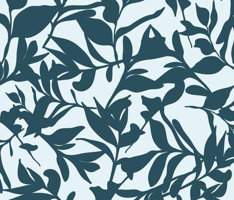 Forest Floor on Light Blue fabric by paula_ohreen_designs on Spoonflower - custom fabric