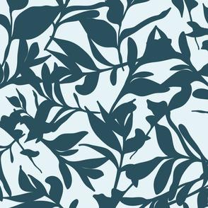 Forest Floor on Light Blue