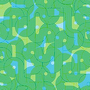 curvy lines cmyk green