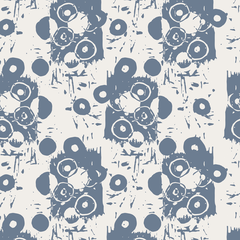 Northwood: Broken Circle - Blue fabric by diane555 on Spoonflower - custom fabric