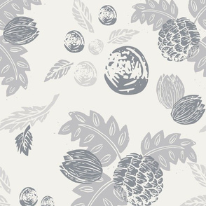 Northwood: Vintage Floral - Grey