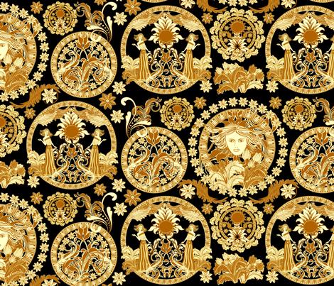 baroque gold fabric by kociara on Spoonflower - custom fabric