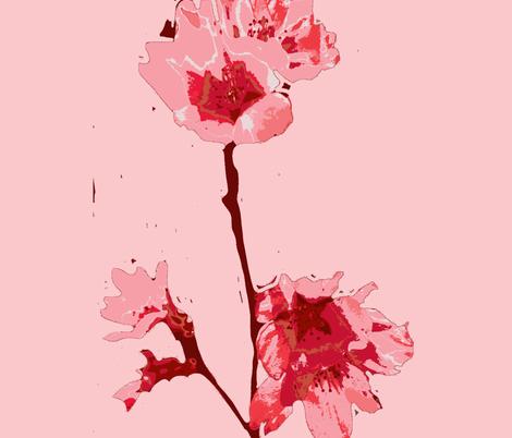 Shades of Cherry Tree Blossom More Pink fabric by fleur_de_la_mer_designs on Spoonflower - custom fabric